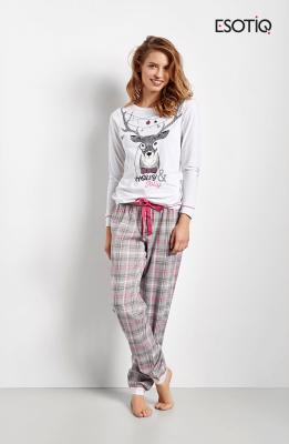 Esotiq Collen 34554-90X Szaro-różowa piżama damska