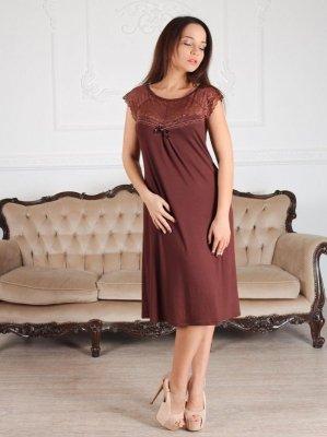Roksana Linda 539 Burgundy (Bordo) koszula nocna