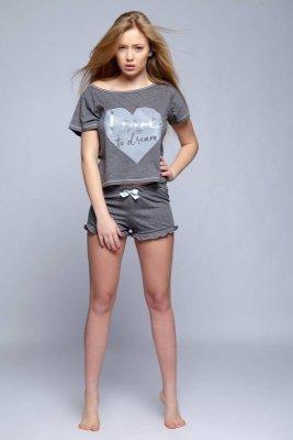 Sensis Lejla grafitowa piżama damska