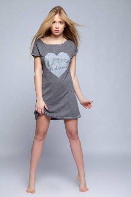 Sensis Lejla grafitowa koszula nocna