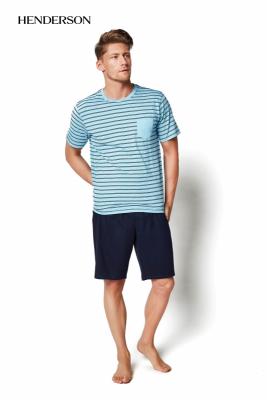 Henderson Miles 34982-60X Jasnoturkusowa piżama męska