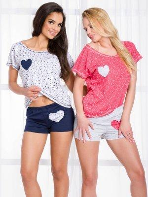 Taro Karola 1127 SS/17 K2 Różowo-szara piżama damska