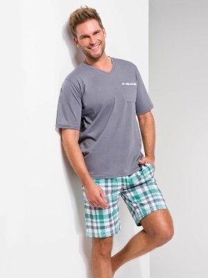 Taro Tymon 919 SS/17 K1 Zielona krata piżama męska