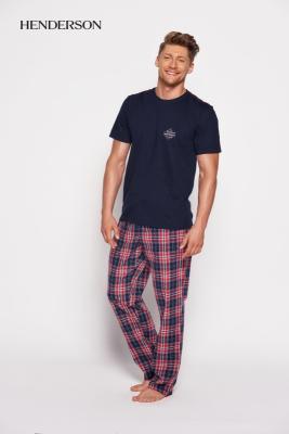 Henderson Sea 35412-59x Granatowo-czerwona piżama męska