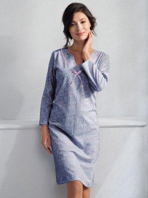 Luna Aisha 153 Niebieska koszula nocna
