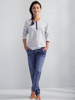 Luna Veronique 550 Szara paski piżama damska