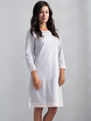 Luna Patricia 074 Szara melanż koszula nocna