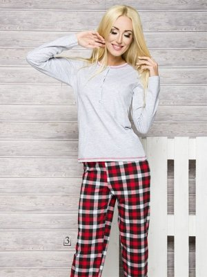 Taro Nati 2112 AW/17 K3 Szara piżama damska