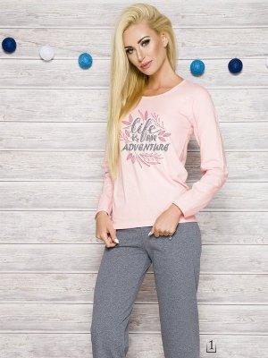 Taro Sylwia 286 AW/17 K1 Różowa piżama damska