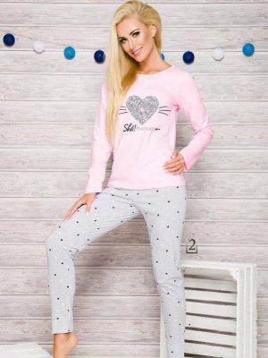 Taro Gala 2113 AW/17 K2 Różowo-szara piżama damska