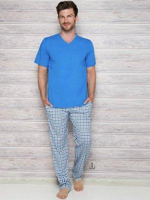 Taro Adam 2131 AW/17 K1 Niebieska piżama męska