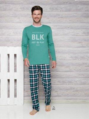 Piżama Leon 1173 AW/17 K2 Zielona piżama męska