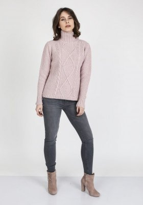 MKM Estelle SWE 121 Pudrowy róż sweter