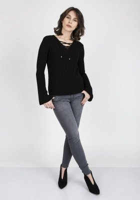 MKM Kylie SWE 117 Czarny sweter
