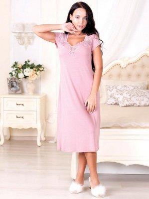 Roksana Victoria 573 Róż Pudrowy koszula nocna