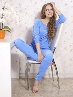 Roksana Dres Stardust 482 Niebieski piżama damska