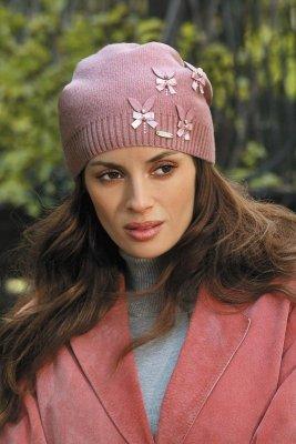 Kamea Ramira różowa (z kaszmirem) czapka