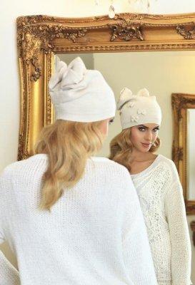 Kamea Renata beżowa czapka