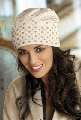 Kamea Margo beżowa czapka