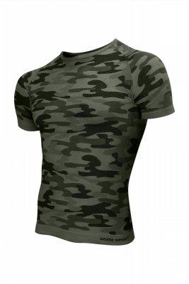 Sesto Senso Thermo Active Military Style krótki rękaw khaki Koszulka męska
