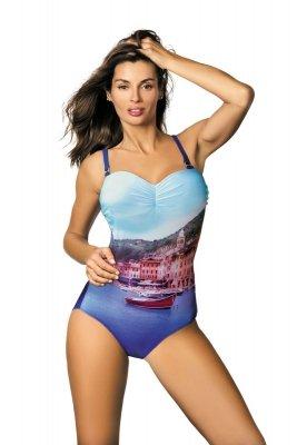 Marko Kostium kąpielowy Valentina M-439 Royal Blue