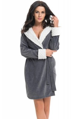 Dn-nightwear SDB.7059 szlafrok damski