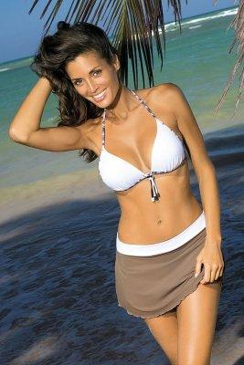 Spódniczka plażowa Marko Meg Cliff-Bianco M-266 Popielato-biały (221)