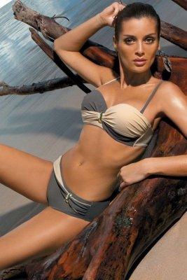 Kostium kąpielowy Marko Liliana Jungle-Light Skin M-259 Popielato-kawowy (18)