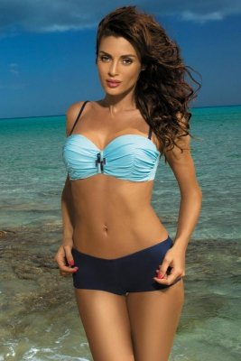 Kostium kąpielowy Marko Tiffany Fata-Blueberry M-319 błękit z granatem (112)