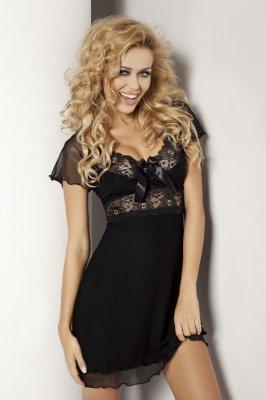 Dkaren Paulina czarna Koszula nocna