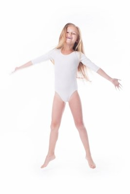 Shepa Body gimnastyczne lycra (B7) rękaw 3/4
