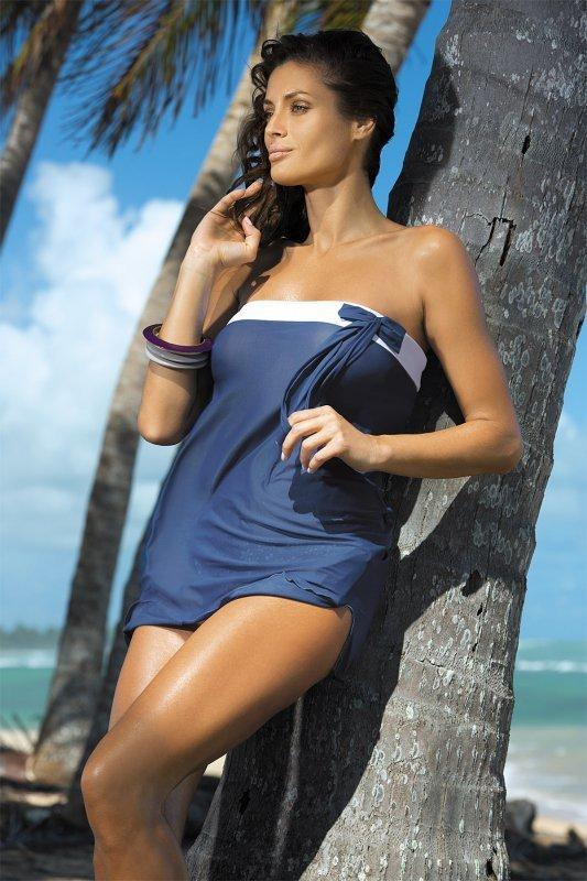 Tunika plażowa Marko Mia Indygo M-241 Granatowy (229)