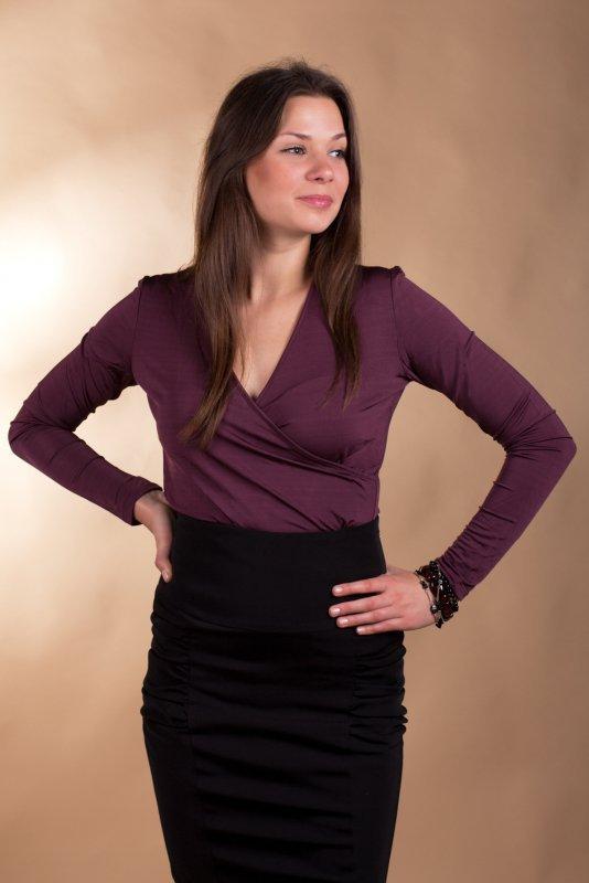 Lookat Abigail 3022 śliwka bluzka damska