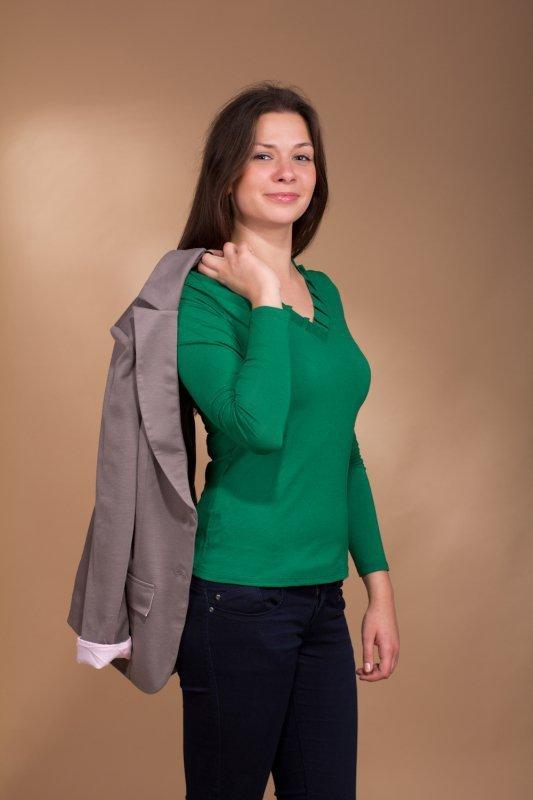 Lookat Vellore 3055 zielona bluzka damska