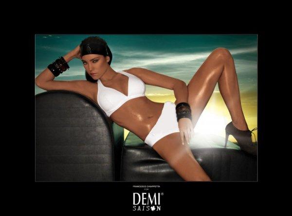 Demi saison Lady Madonna biała Kostium kąpielowy