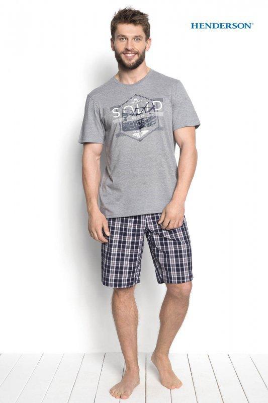 Henderson Duke 34271-90X Szara piżama męska