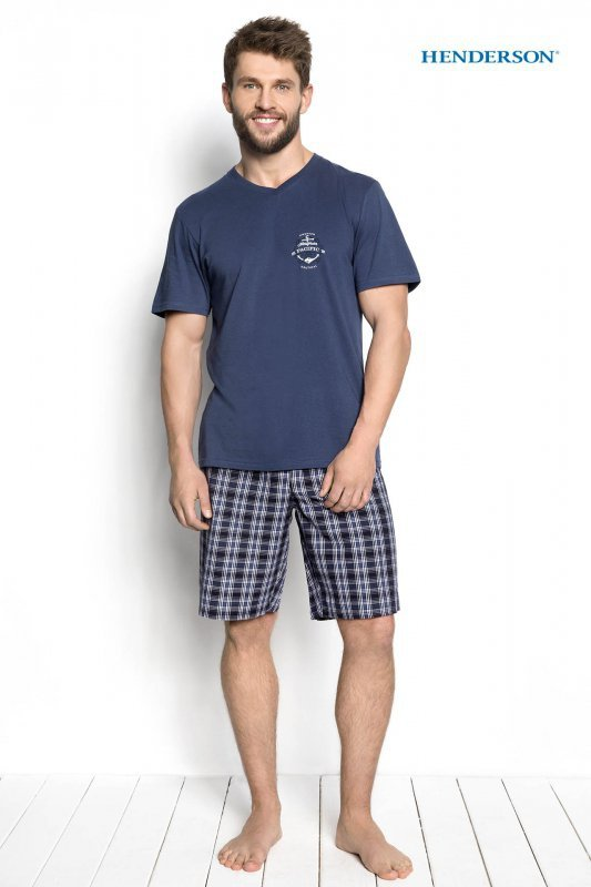 Henderson Dimer 34274-55X Niebieska piżama męska