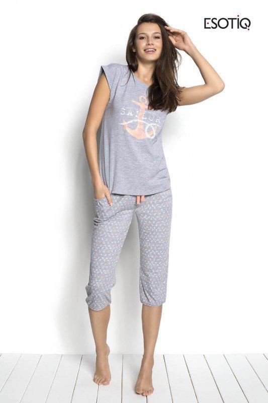 Esotiq Sailor 34221-90X, 34223-90X Szary piżama damska