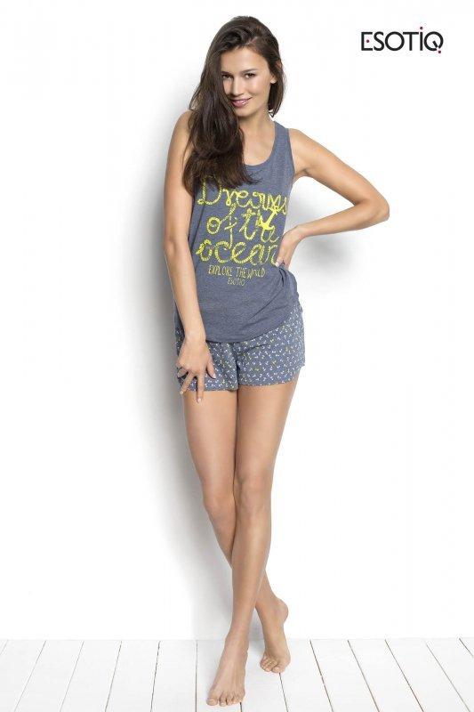 Esotiq Sailor 34220-55X, 34222-55X Szary piżama damska