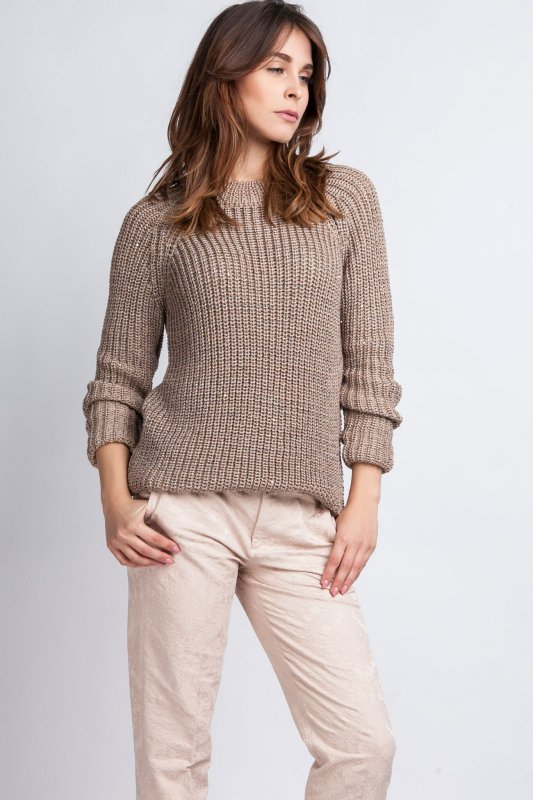 MKMSwetry Kriss SWE 076 mocca sweter