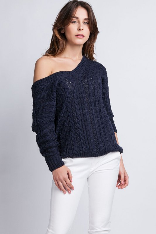 MKMSwetry Kendall SWE 079 granatowy sweter