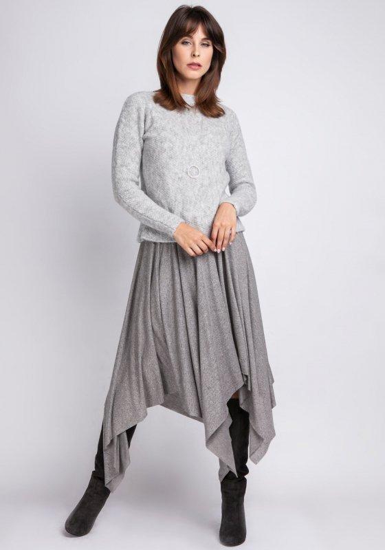 MKMSwetry Chloe SWE 091 szary sweter