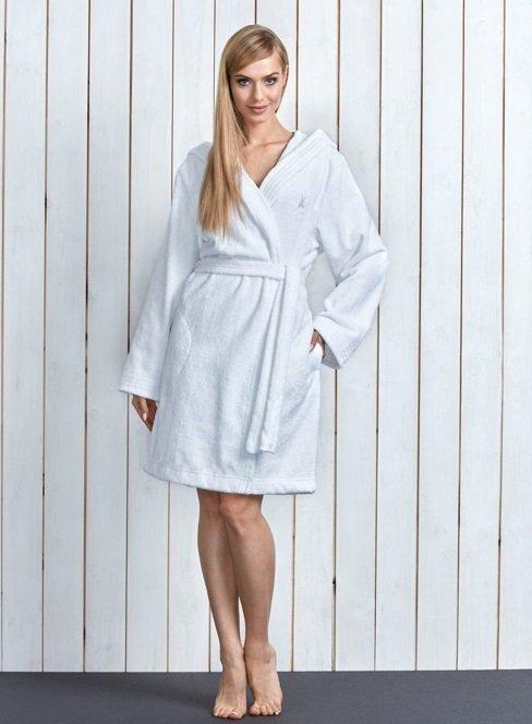 L&L Alba Biały szlafrok damski