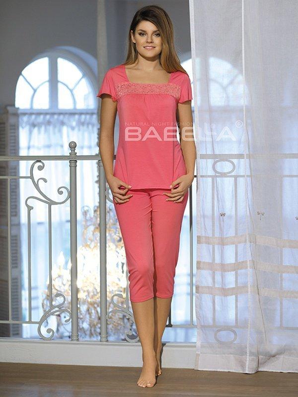 Babell Delfina Koralowa piżama damska