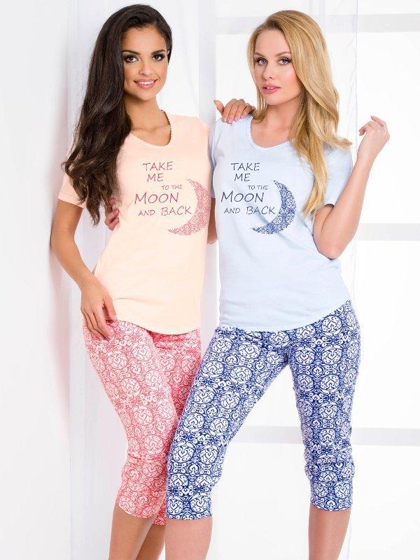 Taro Malina 2082 SS/17 K2 Niebieska piżama damska