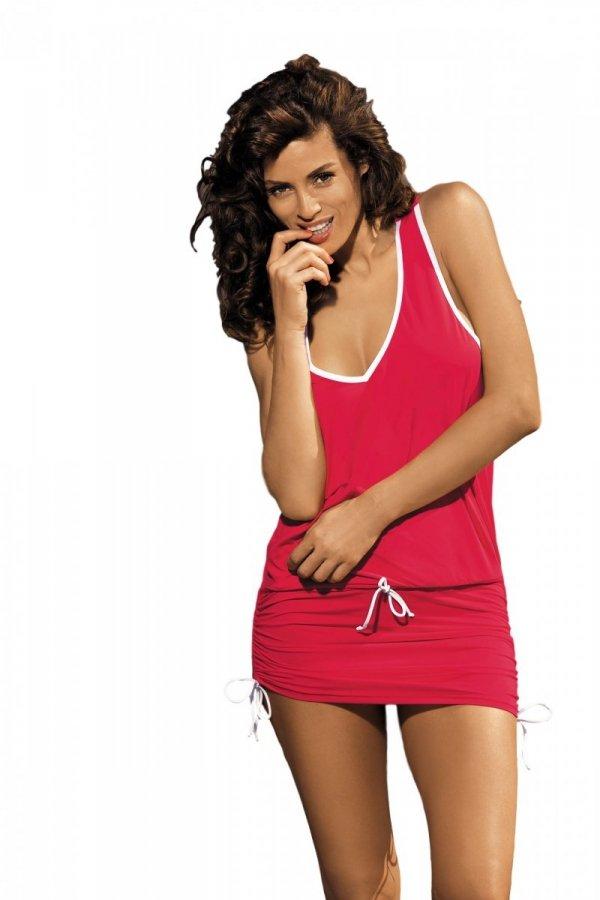 Sukienka plażowa Marko Elsa Anaranjado M-313 Czerwona (286)