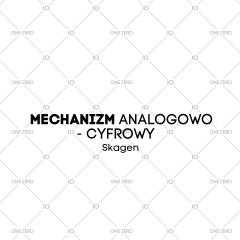 mechanizm analogowo - cyfrowy Skagen