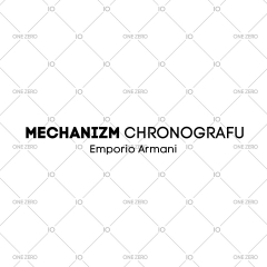 mechanizm z chronografem Emporio Armani