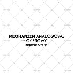 mechanizm analogowo - cyfrowy Emporio Armani