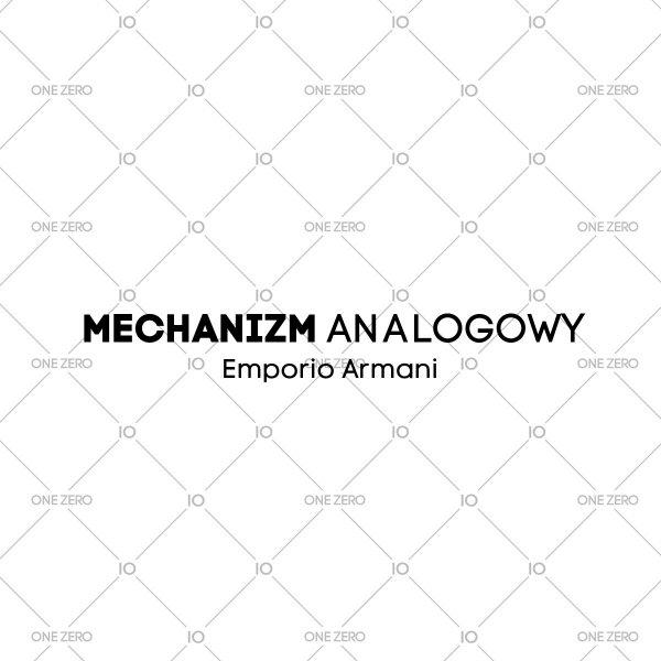 mechanizm analogowy Emporio Armani • ONE ZERO • Modne zegarki i biżuteria • Autoryzowany sklep